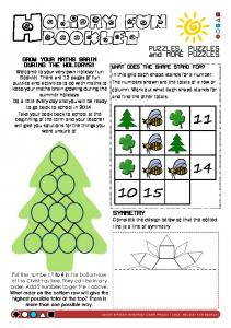 OLIDAY FUN BOOKLET. PUZZLES, PUZZLES and MORE PUZZLES SYMMETRY GROW YOUR MATHS BRAIN DURING THE HOLIDAYS!