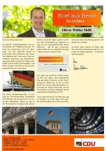 Oliver Wittke MdB. Oliver Wittke MdB