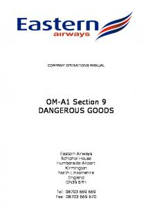 OM-A1 Section 9 DANGEROUS GOODS
