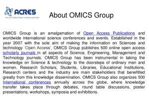OMICS International Conferences