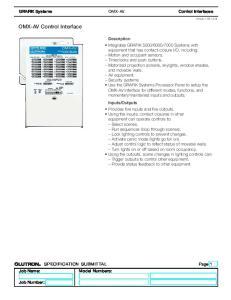 OMX-AV Control Interface