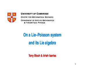 On a Lie Poisson system and its Lie algebra
