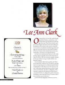 On a typical day, Lee Ann Clark wades through