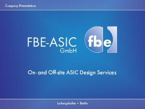 On- and Off-site ASIC Design Services