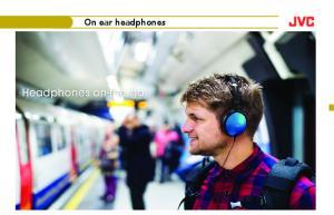 On ear headphones. Headphones on-the-go