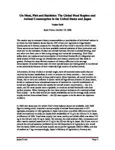 On Meat, Fish and Statistics: The Global Food Regime and Animal Consumption in the United States and Japan