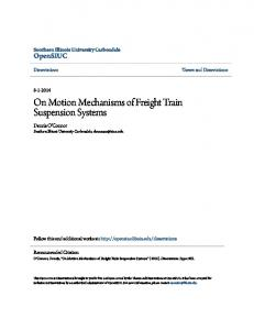 On Motion Mechanisms of Freight Train Suspension Systems