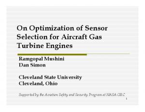 On Optimization of Sensor Selection for Aircraft Gas Turbine Engines