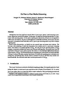On Peer-to-Peer Media Streaming
