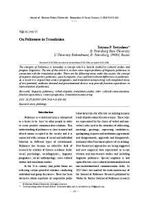 On Politeness in Translation