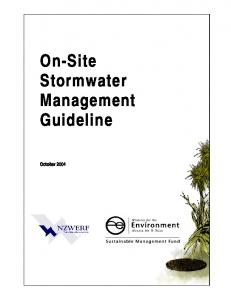 On-Site Stormwater Management Guideline