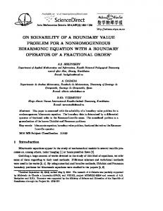 ON SOLVABILITY OF A BOUNDARY VALUE PROBLEM FOR A NONHOMOGENEOUS BIHARMONIC EQUATION WITH A BOUNDARY OPERATOR OF A FRACTIONAL ORDER