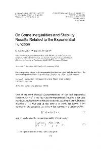 On Some Inequalities and Stability