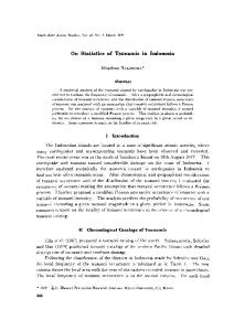 On Statistics of Tsunamis in Indonesia