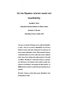 On the Bayesian mixture model and. identifiability