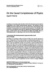On the Causal Completeness of Physics