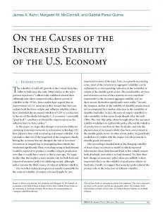 On the Causes of the Increased Stability of the U.S. Economy