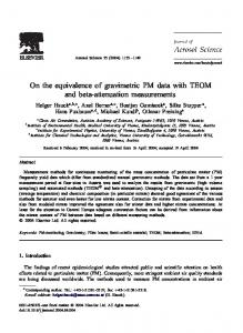 On the equivalence of gravimetric PM data with TEOM and beta-attenuation measurements