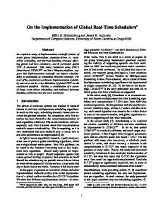 On the Implementation of Global Real-Time Schedulers