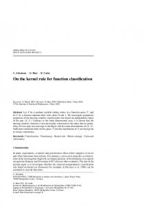 On the kernel rule for function classification