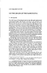 ON THE ORIGIN OF THE NAME PAPUA