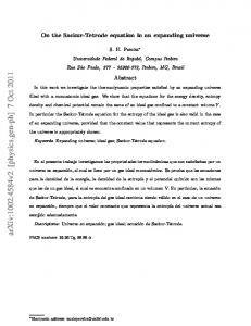 On the Sackur-Tetrode equation in an expanding universe. Abstract
