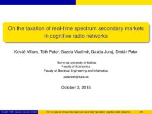 On the taxation of real-time spectrum secondary markets in cognitive radio networks