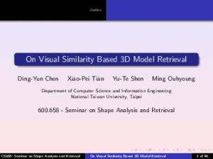 On Visual Similarity Based 3D Model Retrieval