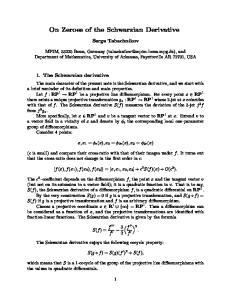 On Zeroes of the Schwarzian Derivative