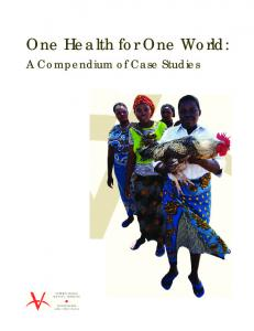 One Health for One World: A Compendium of Case Studies