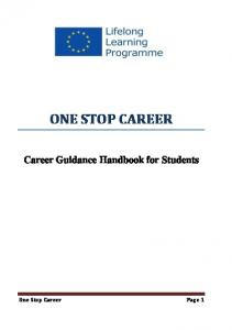 ONE STOP CAREER Career Guidance Handbook for Students