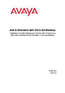 one-x Attendant with Citrix XenDesktop