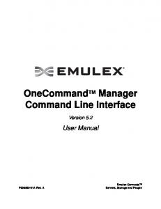 OneCommand TM Manager Command Line Interface