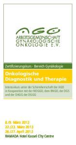 Onkologische Diagnostik und Therapie