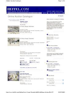 Online Auction Catalogue