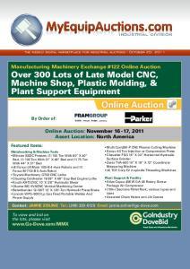Online Auction. industrial division