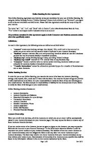 Online Banking Service Agreement