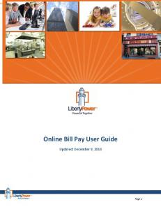 Online Bill Pay User Guide