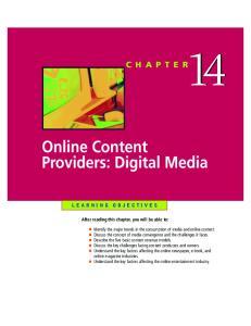 Online Content Providers: Digital Media
