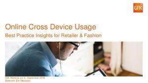 Online Cross Device Usage