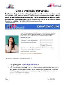Online Enrollment Instructions