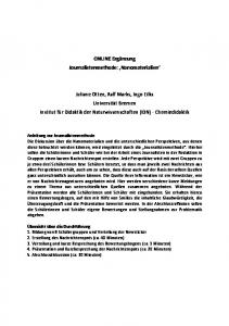 ONLINE Ergänzung Journalistenmethode: Nanomaterialien