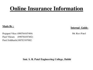 Online Insurance Information