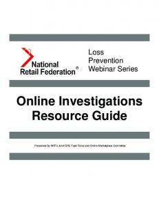 Online Investigations Resource Guide