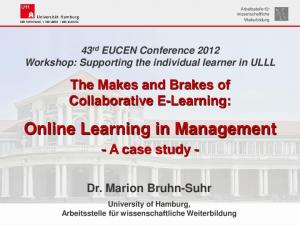 Online Learning in Management