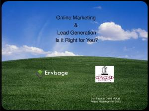 Online Marketing & Lead Generation Is it Right for You?
