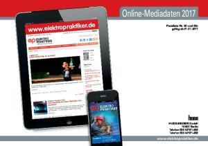 Online-Mediadaten 2017