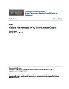 Online Newspapers: Why They Remain Online