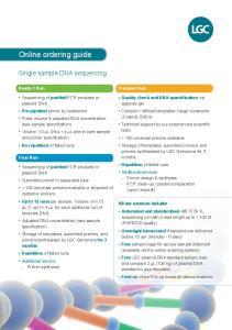 Online ordering guide