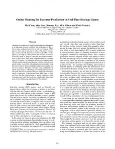 Online Planning for Resource Production in Real-Time Strategy Games